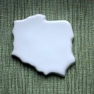 Mapa Polski – ceramiczna płytka