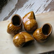Ceramiczne muszelki do zapiekania ślimaków (5 x 3,5 x 3 cm)