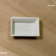 Prostokątny talerzyk (6 x 8 cm, 9 x 12 cm)